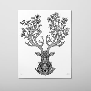 Illustration of a deer by ollie brown