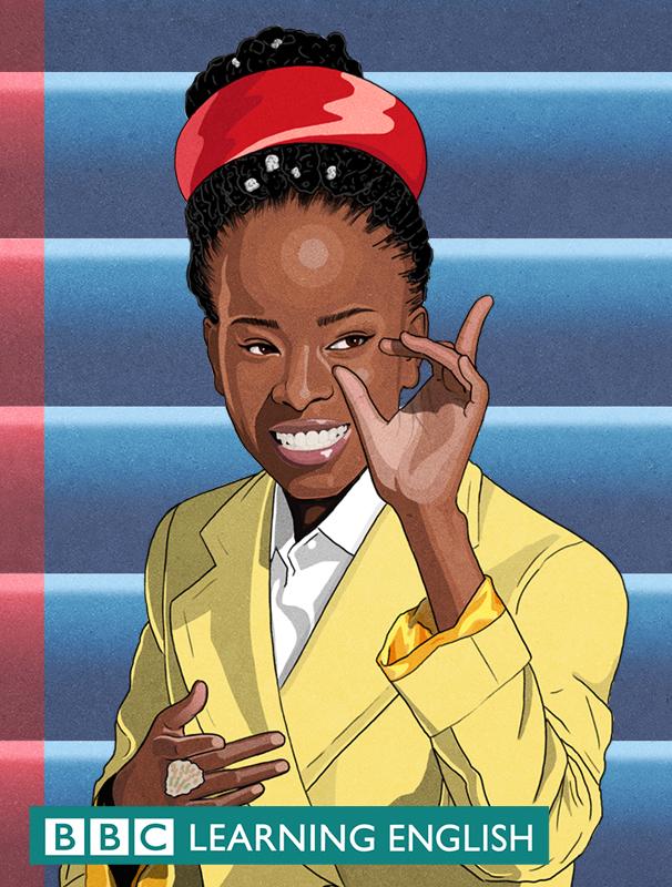 Illustration of Amanada Gorman for BBC learning English