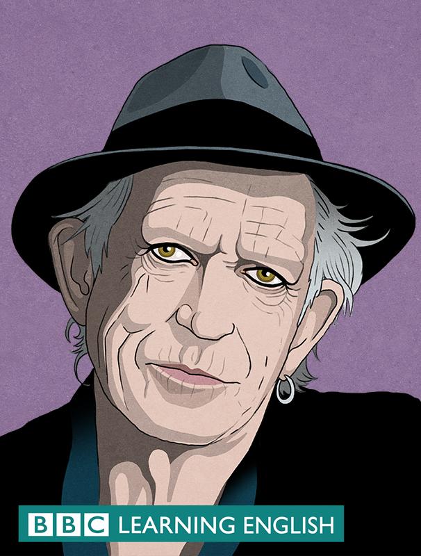 Keith Richard illustration for BBC Learning English